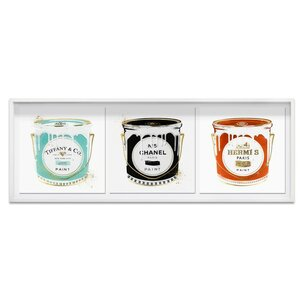 'Fashion Paint Trio' Framed Graphic Art Print by Oliver Gal