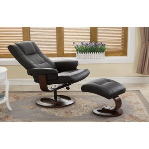 Cecilwood I-Comfy Manual Swivel Recliner with Ottoman by Latitude Run