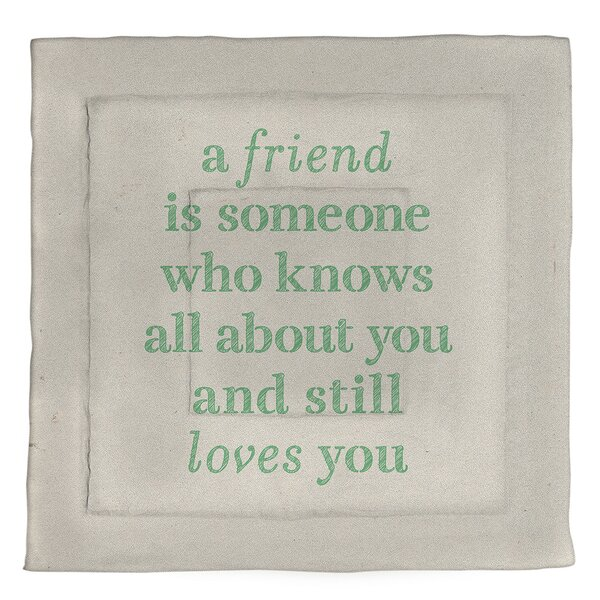 Love & Friendship Quote Single Reversible Comforter
