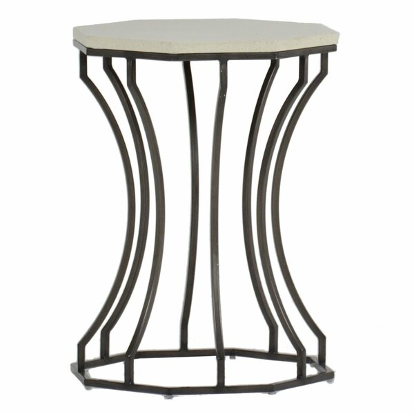 Audrey Stone/Concrete Side Table by Summer Classics