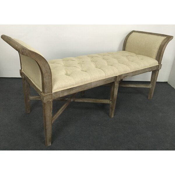 Brockett Upholstered Bench by Gracie Oaks