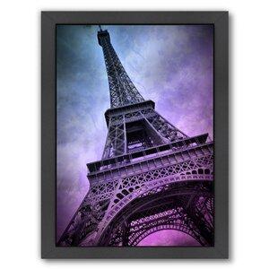 Modern Art Paris Eiffel Tower Framed Graphic Art by East Urban Home