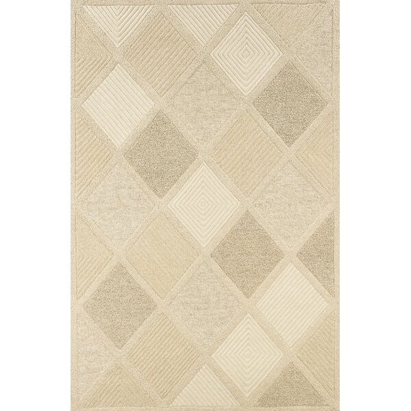 Argyle Hand-Woven Linen Area Rug by Highland Dunes