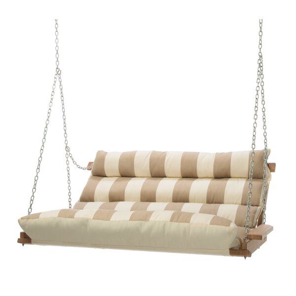 Montgomery Regency Sand Deluxe Cushion Sunbrella Porch Swing by Rosecliff Heights