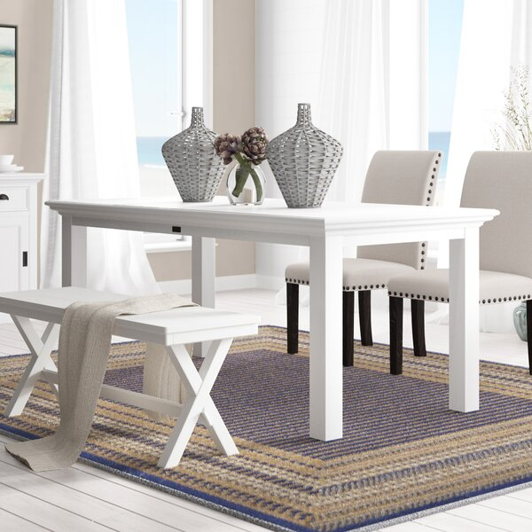 Amityville Solid Wood Dining Table by Beachcrest Home