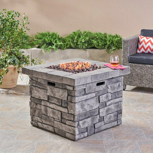 Cookson Stone Propane Fire Pit Table by 17 Stories