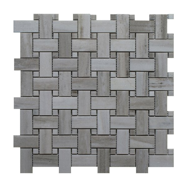 Palissandro Marble Mosaic Tile in Dark Gray by Seven Seas