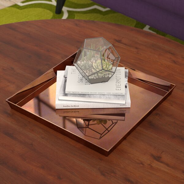 Square Copper Accent Tray by Ivy Bronx