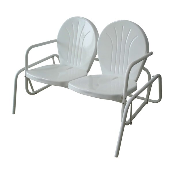 Herrell Metal Powder Coat Double Seat Glider Bench by Ebern Designs