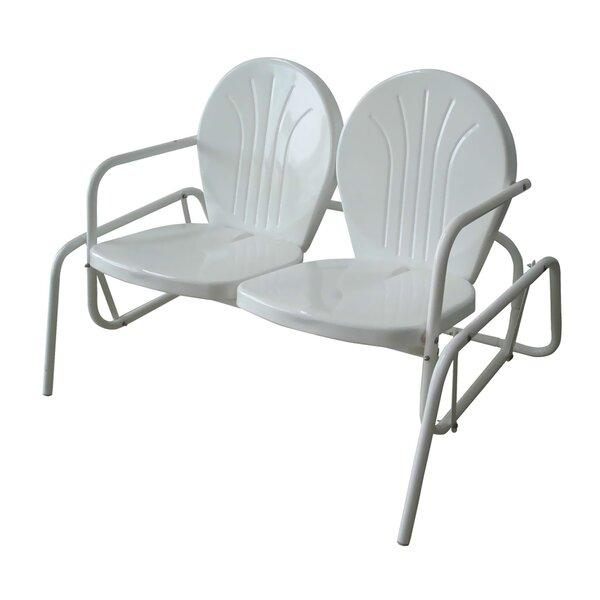 Herrell Metal Powder Coat Double Seat Glider Bench by Ebern Designs