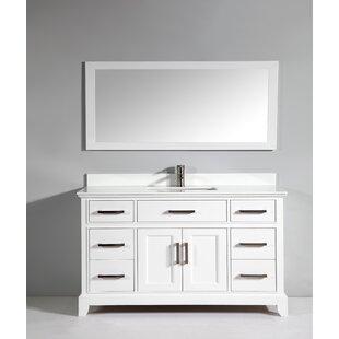 Junie Stone 60 Single Bathroom Vanity with Mirror ByGracie Oaks