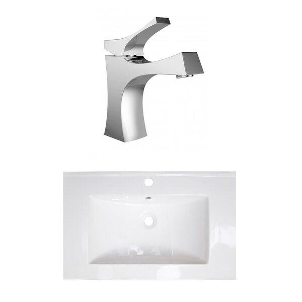 1 Hole Ceramic 24 Single Bathroom Vanity Top [American Imaginations]
