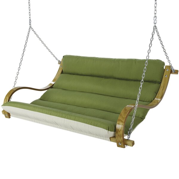 Lafave Deluxe Cushioned Double Porch Swing by Latitude Run