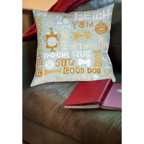Dog Bark Printed Throw Pillow by Manual Woodworkers & Weavers