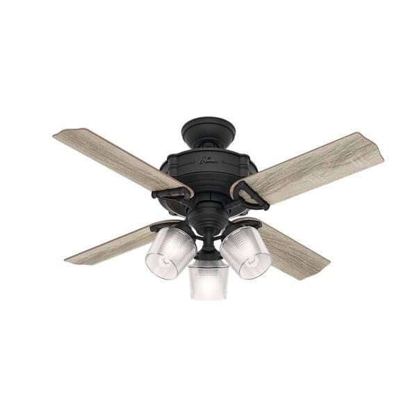 44 Brunswick 4 Blade LED Ceiling Fan with Remote by Hunter Fan
