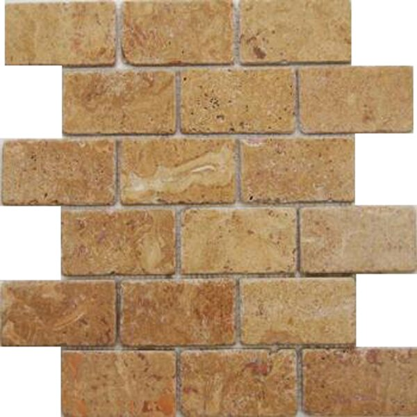 Noce 2'' x 4'' Travertine Subway Tile in Brown by Epoch Architectural Surfaces