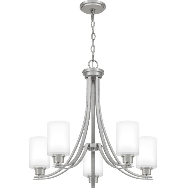 Amante 5 - Light Shaded Classic / Traditional Chandelier by Ebern Designs Ebern Designs