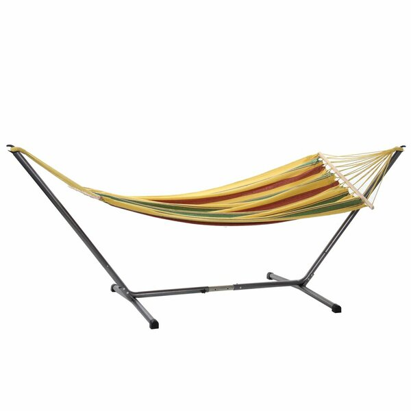 Aruba Jet Cotton Hammock with Stand by Byer Of Maine