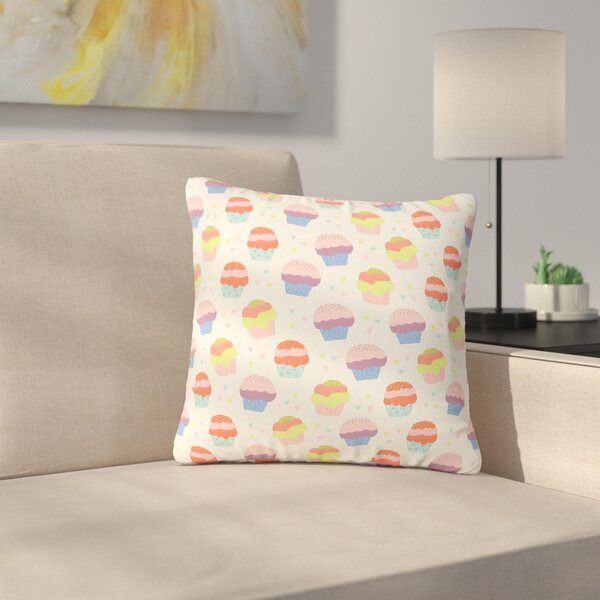 Cristina Bianco Cupcakes Food Outdoor Throw Pillow by East Urban Home