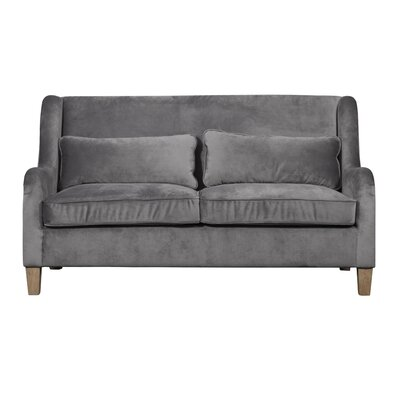 Arm Sofa Round Body Velvet Linen pic