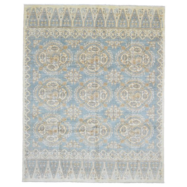 One-of-a-Kind Evert Peshawar Oriental Hand Woven Wool Blue/Beige Area Rug by Isabelline