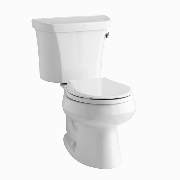 Wellworth Two-Piece Round-Front 1.28 GPF Toilet with Class Five Flush Technology, Right-Hand Trip Lever and Tank Cover Locks by Kohler