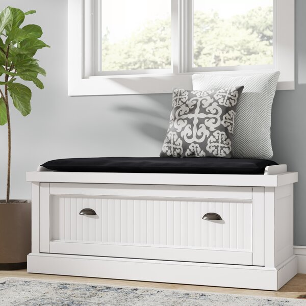 Rabin Wood Storage Bench by Beachcrest Home Beachcrest Home