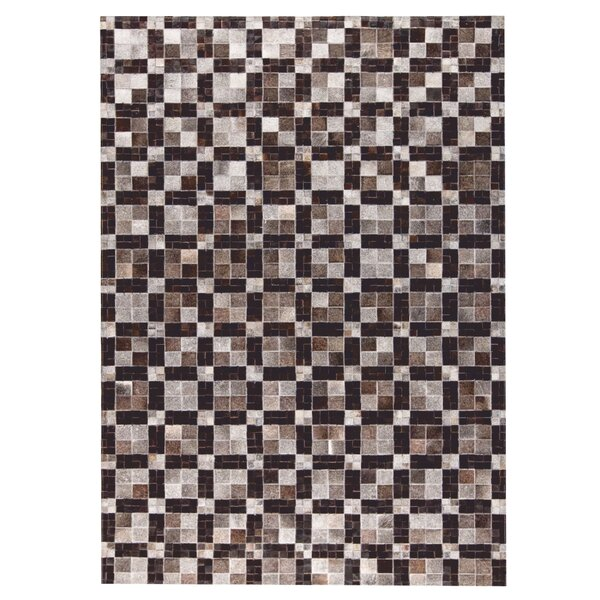Bricka Hand woven Gray/Black Area Rug by M.A. Trading