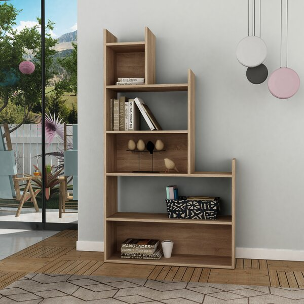 Marroquin Geometric Bookcase by Wrought Studio