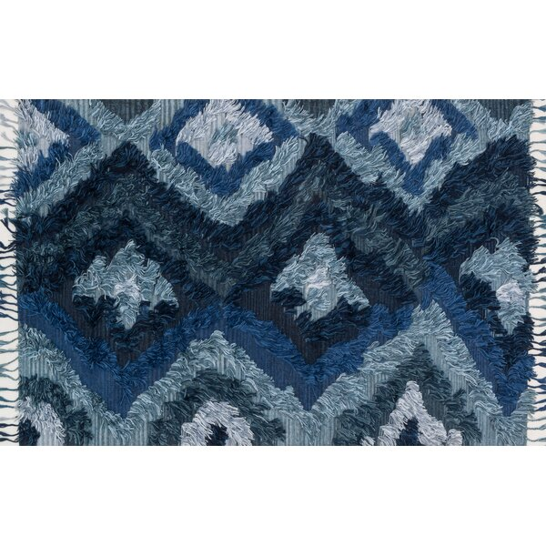Benson Hand-Woven Indigo Area Rug by Foundry Select