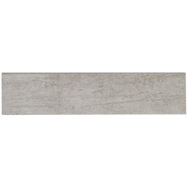 Season Wood 12 x 3 Porcelain Bullnose Tile Trim in Snow Pine by Daltile