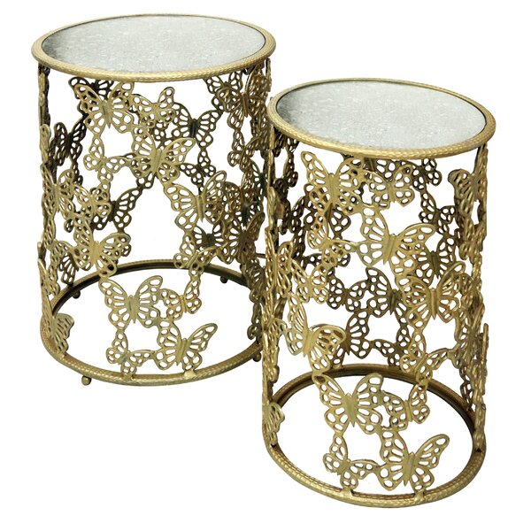 Maryanne Round 2 Piece Nesting Tables by August Grove August Grove