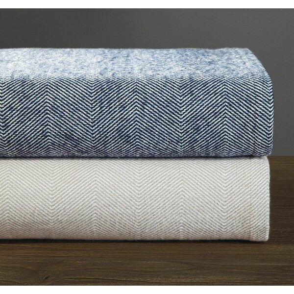 Egor Herringbone Cotton Blanket by Eider & Ivory