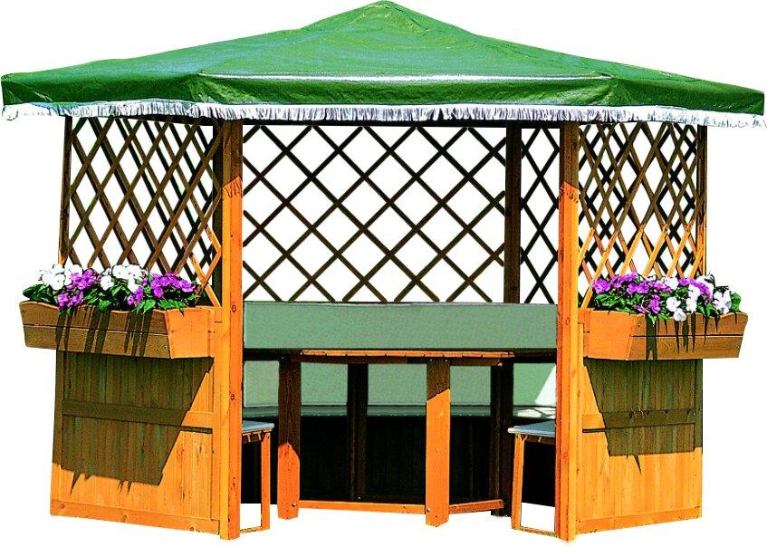 dcor design 211 cm x 309 cm rund pavillon marburg mit m beln bewertungen. Black Bedroom Furniture Sets. Home Design Ideas