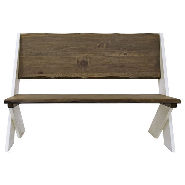 Salazar Trestle Wood Bench by Union Rustic