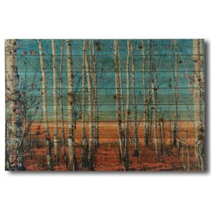 'Birch Trees' Photographic Print on Wood by Gallery 57