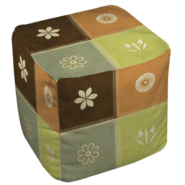 Graphic Garden Sage Pouf by Manual Woodworkers & Weavers