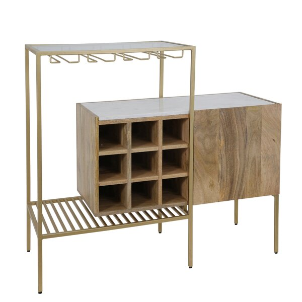 Vanslyke Bar With Wine Storage By Foundry Select