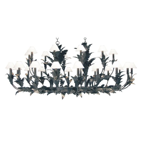 30 - Light Shaded Tiered Chandelier By 2nd Ave Design