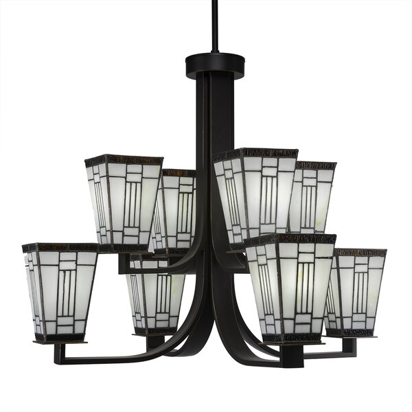 Eurig 8 - Light Shaded Tiered Chandelier by Loon Peak Loon Peak