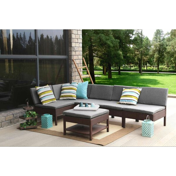 Bridgnorth 6 Piece Sectional Seating Group With Cushions by Ebern Designs