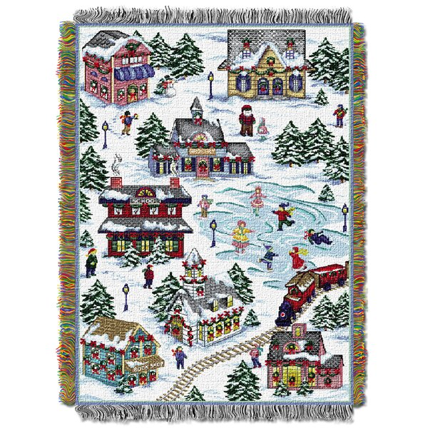 Snowy Village Throw by Northwest Co.