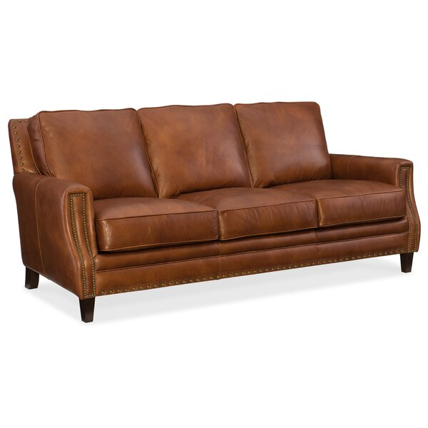 Exton Leather Sofa by Hooker Furniture