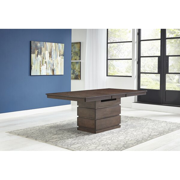 Fishponds Butterfly Leaf Rubberwood Solid Wood Dining Table by Union Rustic Union Rustic