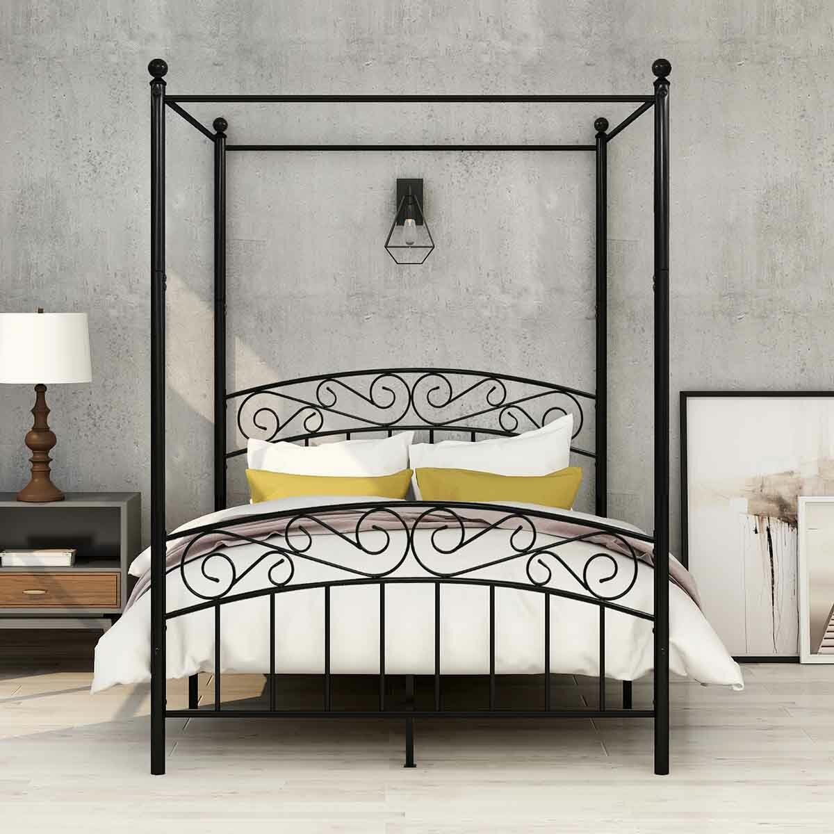 Rosalind Wheeler Mcdonough Canopy Bed Reviews Wayfair