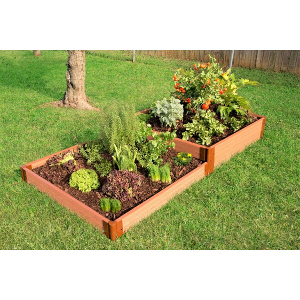 Classic Sienna Terraced 4 ft x 8 ft Composite Raised Garden by Frame It All