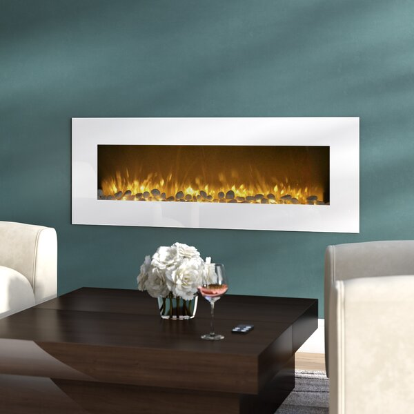 Quigley Wall Mounted Electric Fireplace By Orren Ellis