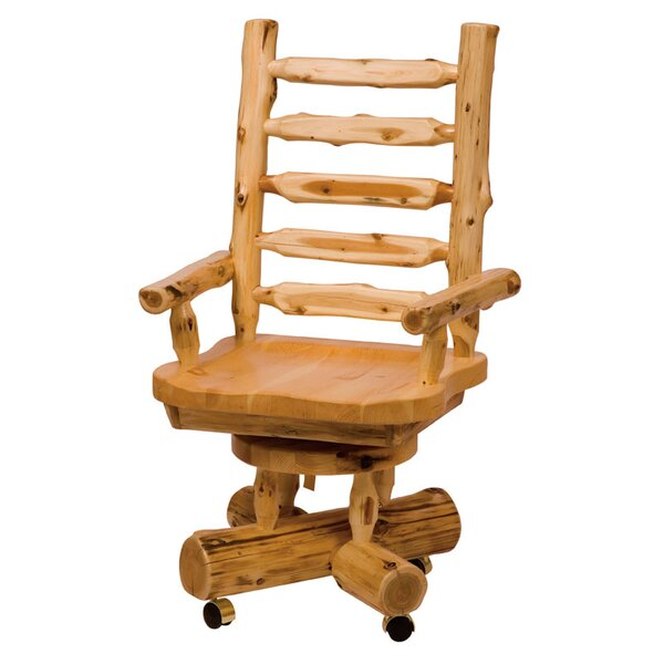 Traditional Cedar Log Bankers Chair by Fireside Lodge