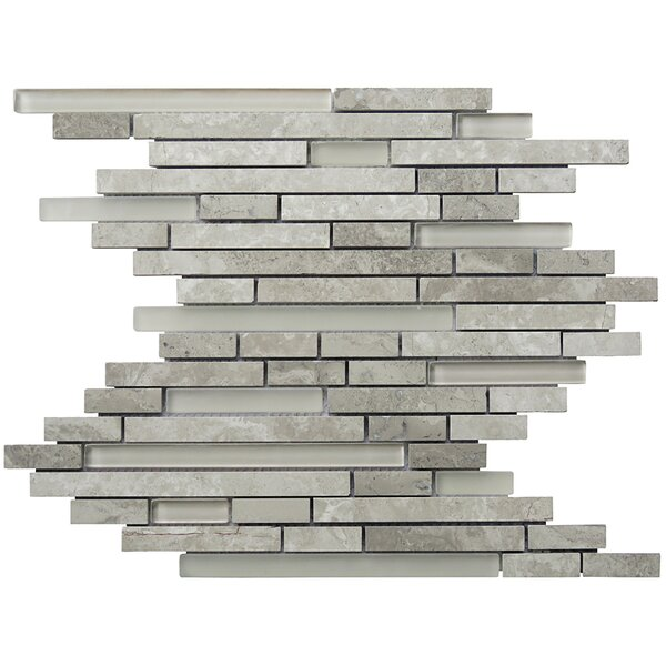 Eternity Random Sized Natural Stone Mosaic Tile in Gray by Intrend Tile