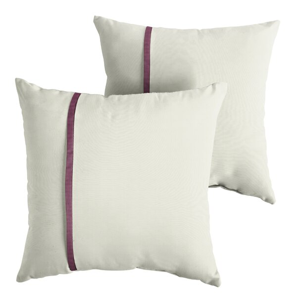 Forsythe Indoor/Outdoor Sunbrella Throw Pillow (Set of 2) by Charlton Home